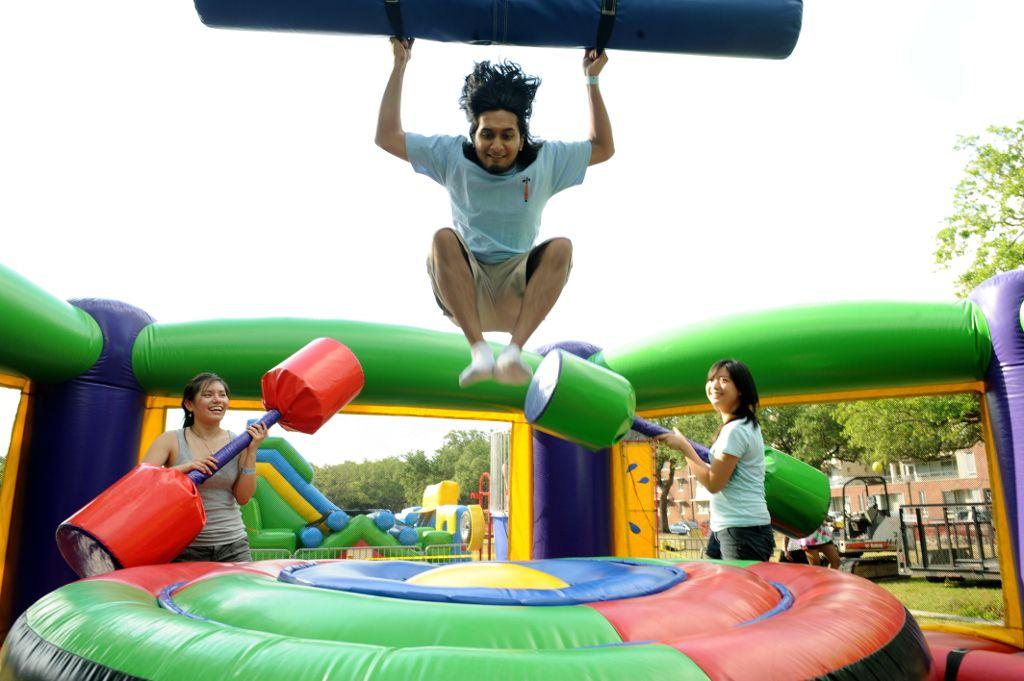 Bounce and fun.